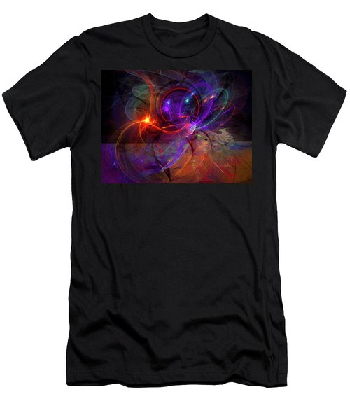 Hold On Love - Abstract Colorful Art Men's T-Shirt (Slim Fit) by Modern Art Prints
