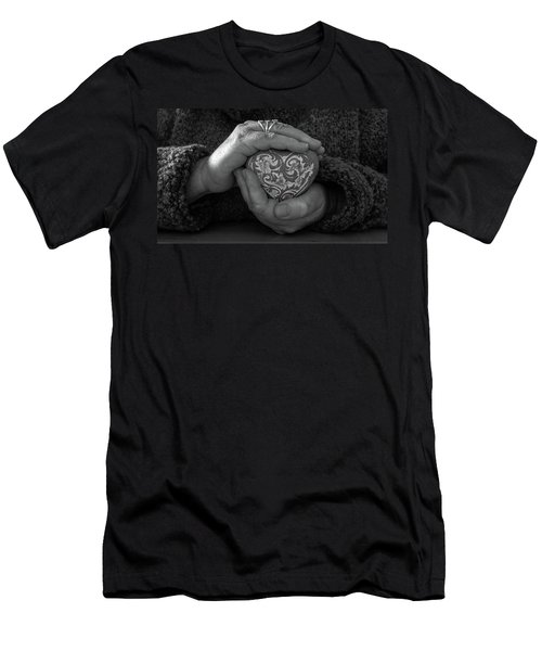 Holding My Heart In My Hands Men's T-Shirt (Athletic Fit)