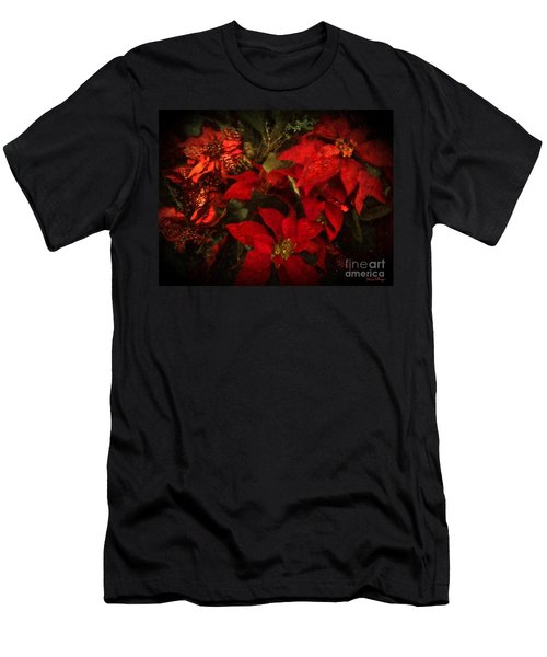 Holiday Painted Poinsettias Men's T-Shirt (Athletic Fit)