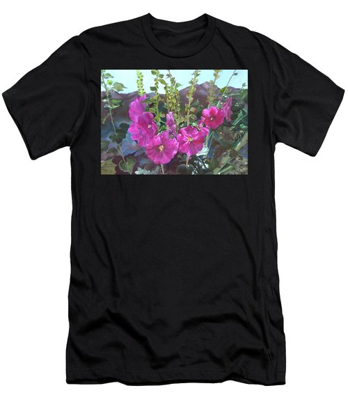 Hollyhock Necklace Men's T-Shirt (Athletic Fit)
