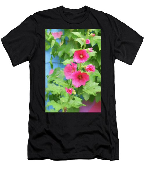 Hollyhocks - 1 Men's T-Shirt (Athletic Fit)