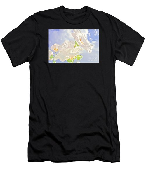 Hollyhocks And Sky Men's T-Shirt (Athletic Fit)