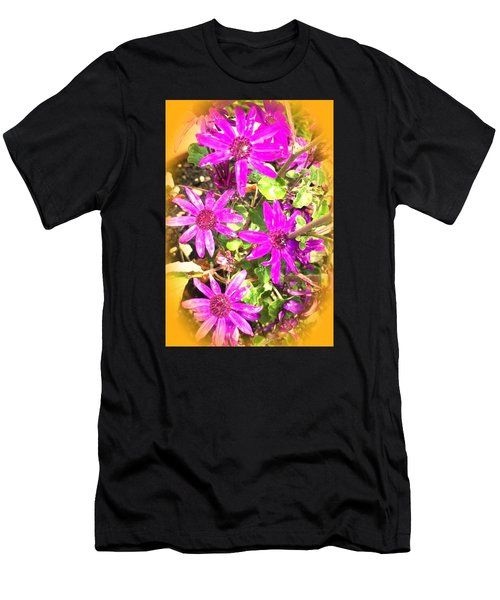Hollywood Flower Stars Men's T-Shirt (Athletic Fit)