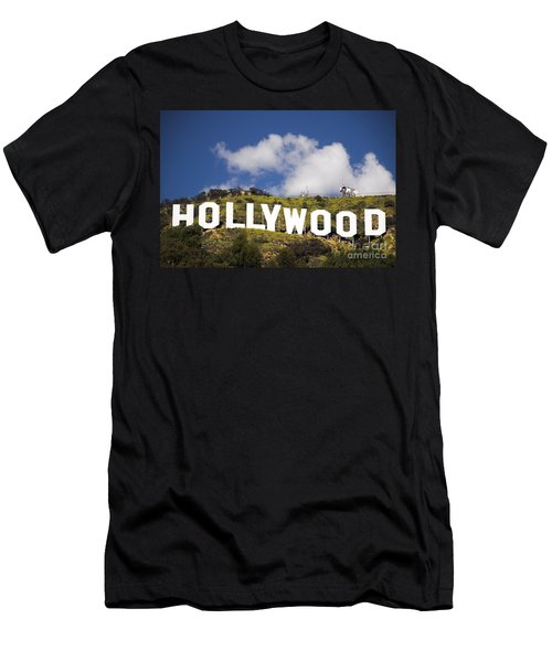 Hollywood Sign Men's T-Shirt (Slim Fit) by Anthony Citro