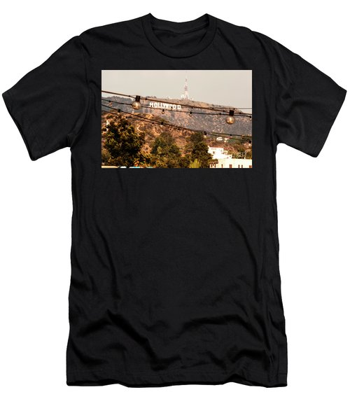 Men's T-Shirt (Slim Fit) featuring the photograph Hollywood Sign On The Hill 3 by Micah May