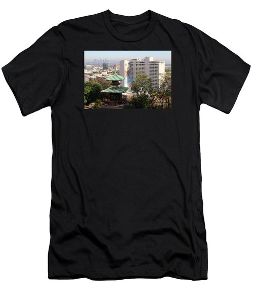 Hollywood View From Japanese Gardens Men's T-Shirt (Athletic Fit)