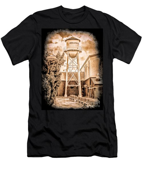 Hollywood Water Tower Men's T-Shirt (Athletic Fit)