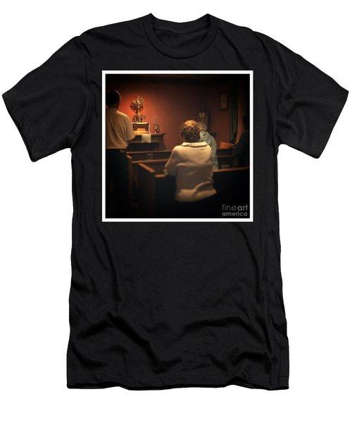 Holy Adoration Altar Men's T-Shirt (Athletic Fit)