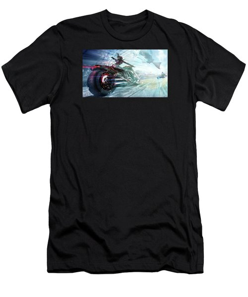 Men's T-Shirt (Slim Fit) featuring the photograph Holy Crap That Is Fast. by Lawrence Christopher