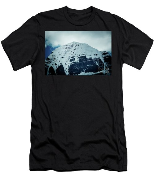 Holy Kailas North Slop Fragment Himalayas Tibet Yantra.lv Men's T-Shirt (Athletic Fit)