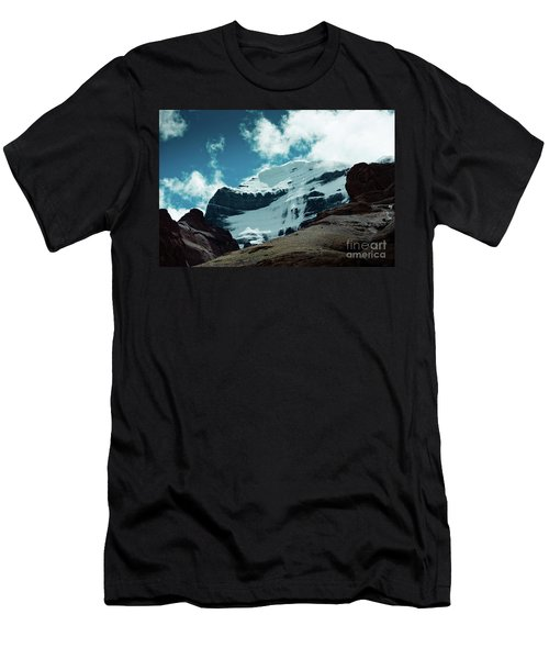 Holy Kailas West Himalayas Tibet Yantra.lv Men's T-Shirt (Athletic Fit)