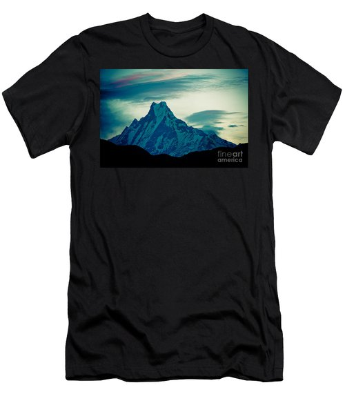Holy Mount Fish Tail Machhapuchare 6998m Men's T-Shirt (Athletic Fit)