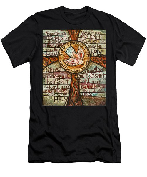 Holy Spirit Prayer By St. Augustine Men's T-Shirt (Athletic Fit)