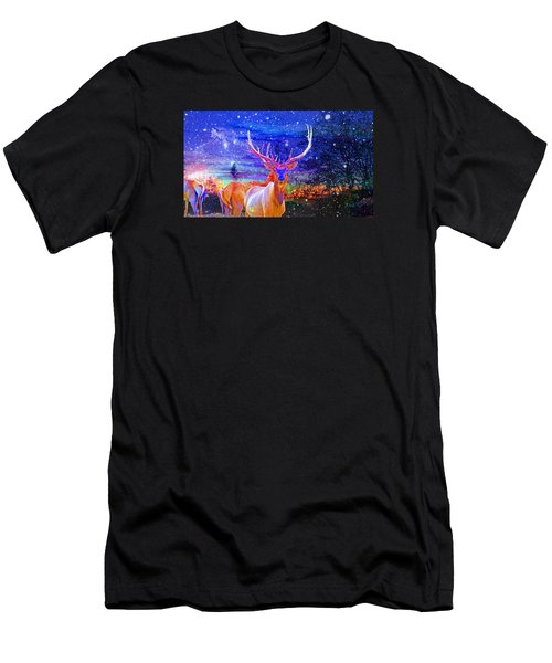 Home For The Holidays Men's T-Shirt (Slim Fit) by Mike Breau