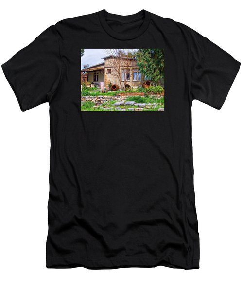 Men's T-Shirt (Slim Fit) featuring the photograph Home In Greece by Roberta Byram