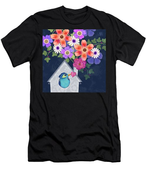 Home Is Where You Bloom Men's T-Shirt (Athletic Fit)