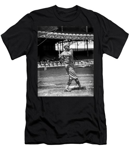Home Run Babe Ruth Men's T-Shirt (Slim Fit) by Jon Neidert