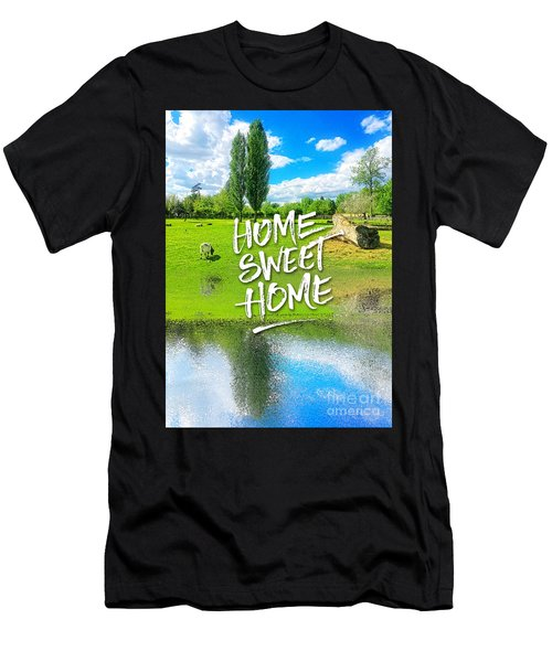 Home Sweet Home Pastoral Versailles Chateau Country Landscape Men's T-Shirt (Athletic Fit)