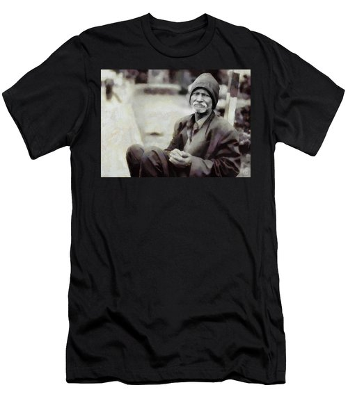 Men's T-Shirt (Slim Fit) featuring the digital art Homeless II by Gun Legler