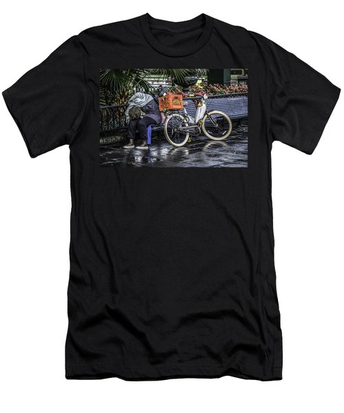 Homeless In New Orleans, Louisiana Men's T-Shirt (Athletic Fit)