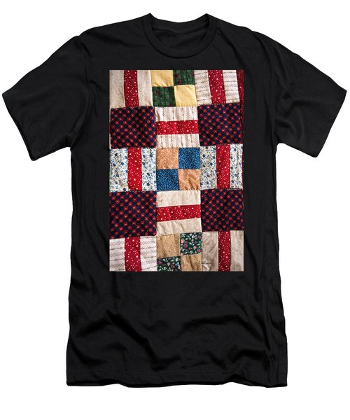Homemade Quilt Men's T-Shirt (Slim Fit) by Christopher Holmes