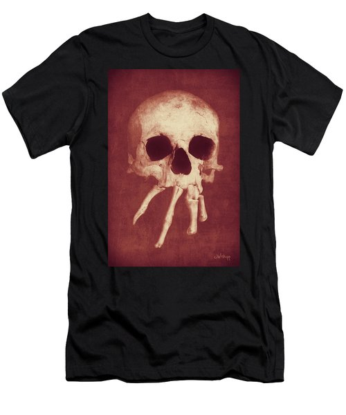 Men's T-Shirt (Athletic Fit) featuring the photograph Homo Spidercus Red by Joseph Westrupp