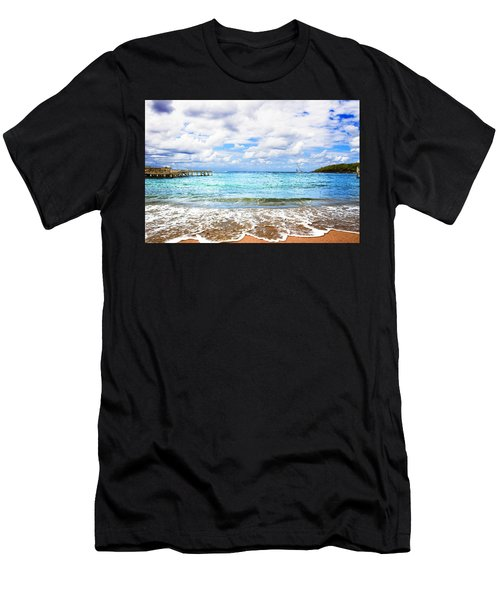 Honduras Beach Men's T-Shirt (Athletic Fit)
