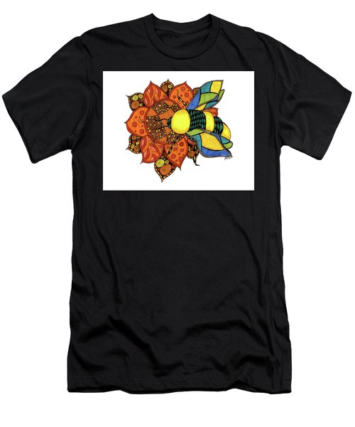 Honeybee On A Flower Men's T-Shirt (Athletic Fit)