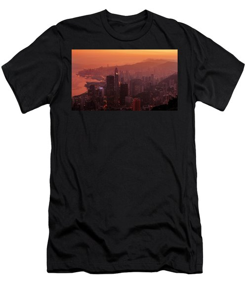 Hong Kong City View From Victoria Peak Men's T-Shirt (Athletic Fit)