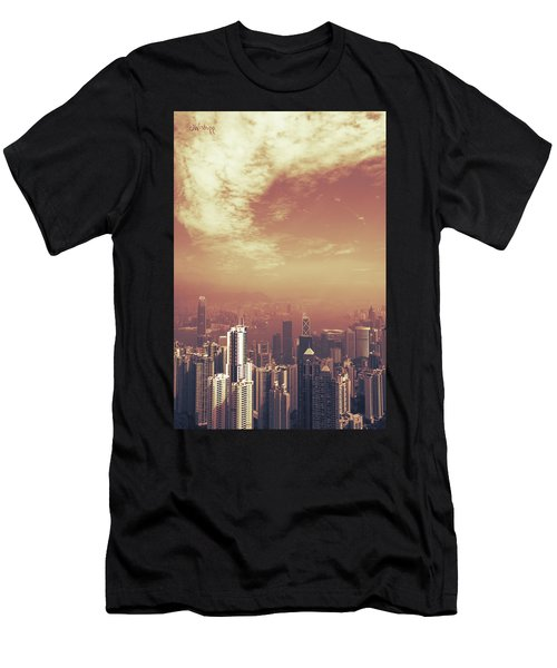 Hong Kong Portrait Men's T-Shirt (Slim Fit) by Joseph Westrupp