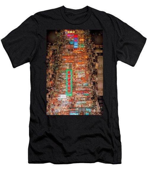 Hong Kong -yaumatei Men's T-Shirt (Athletic Fit)