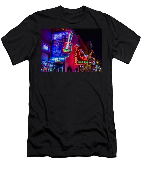 Honky Tonk Broadway Men's T-Shirt (Slim Fit) by Stephen Stookey