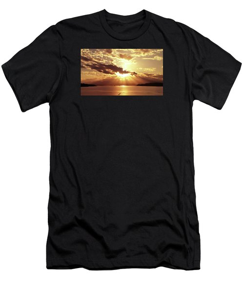 Hood Canal Sunset Men's T-Shirt (Slim Fit) by Eddie Eastwood