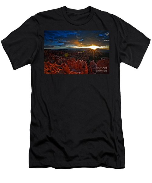 Hoodoos At Sunrise Bryce Canyon National Park Men's T-Shirt (Athletic Fit)
