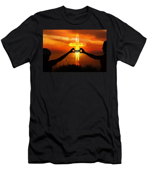 Men's T-Shirt (Athletic Fit) featuring the painting Hope - Painting by Ericamaxine Price