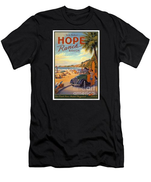 Hope Ranch Beach Men's T-Shirt (Slim Fit) by Nostalgic Prints