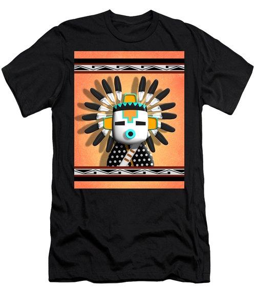 Men's T-Shirt (Slim Fit) featuring the digital art Hopi Kachina Mask by John Wills