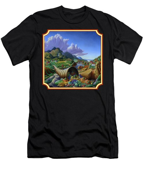 Horn Of Plenty Farm Landscape - Bountiful Harvest - Square Format Men's T-Shirt (Athletic Fit)