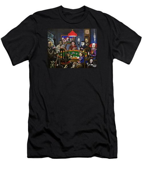 Horror Card Game Men's T-Shirt (Slim Fit) by Tom Carlton