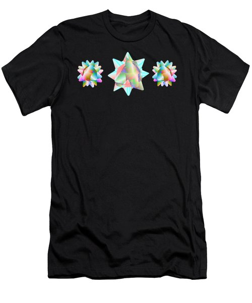 Horse Abstract Ribbon Bow Party Series Men's T-Shirt (Athletic Fit)