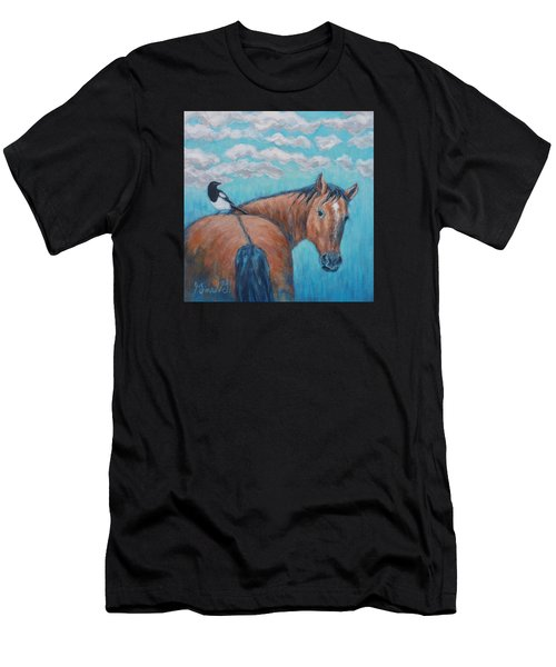 Horse And Magpie Men's T-Shirt (Athletic Fit)