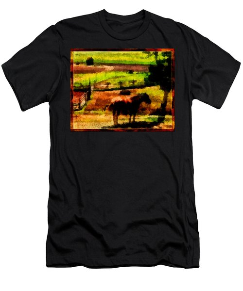 Horse At Pasture Men's T-Shirt (Athletic Fit)