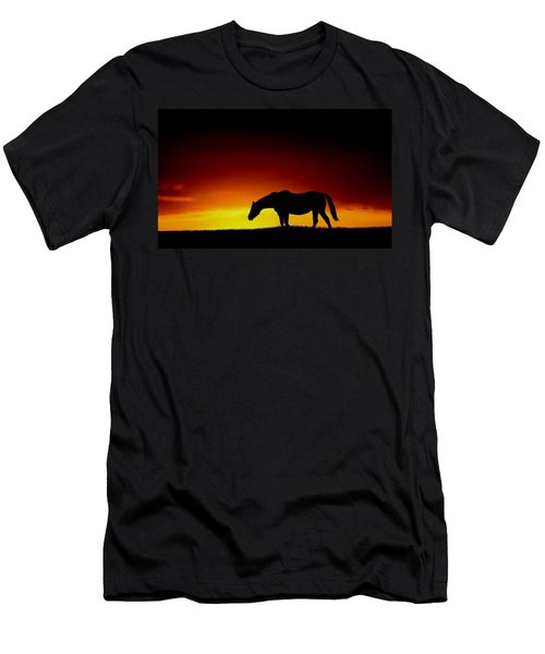 Horse At Sunset Men's T-Shirt (Athletic Fit)