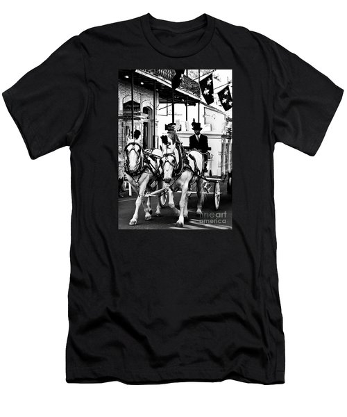 Horse Drawn Funeral Carriage Men's T-Shirt (Slim Fit) by Kathleen K Parker