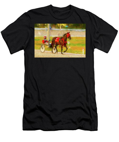 Horse, Harness And Jockey Men's T-Shirt (Athletic Fit)