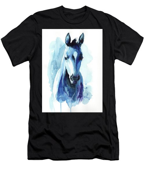 Horse In Blue Men's T-Shirt (Athletic Fit)