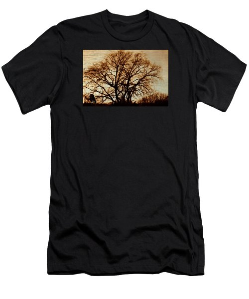 Horse In The Willows Men's T-Shirt (Slim Fit) by Rena Trepanier