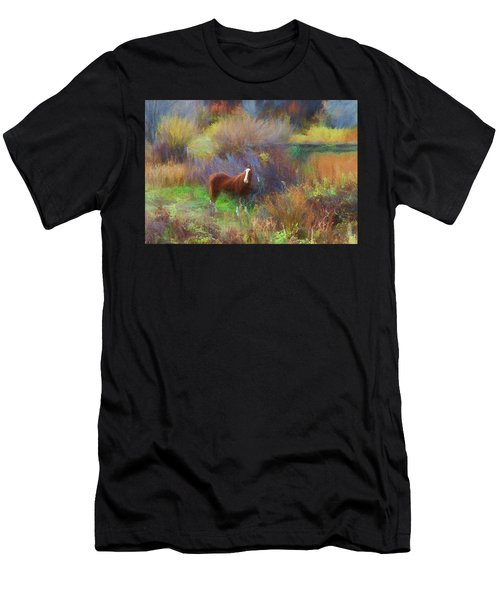 Horse Of Many Colors Men's T-Shirt (Athletic Fit)