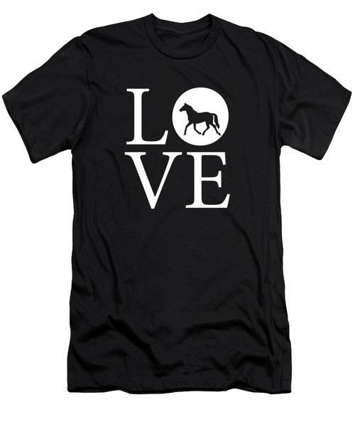Horse Love Men's T-Shirt (Athletic Fit)