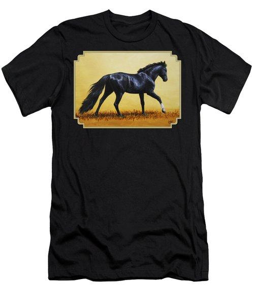 Horse Painting - Black Beauty Men's T-Shirt (Athletic Fit)